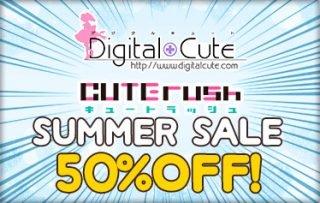 ウィンターセール第3弾! 「むすめーかーHD」「タンテイセブン」「らぶきゅばす」などDigitalCute&CUTE RUSH作品のDL版が50%OFF!!!